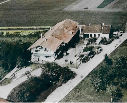 Alte Luftaufnahme Schema Hydraulik