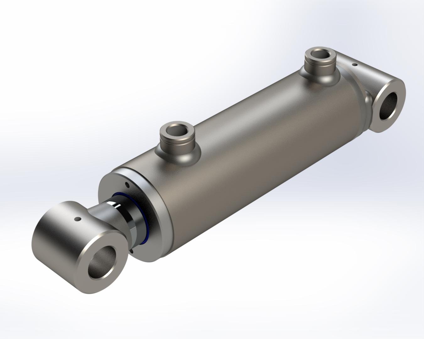Doppeltwirkender Hydraulikzylinder