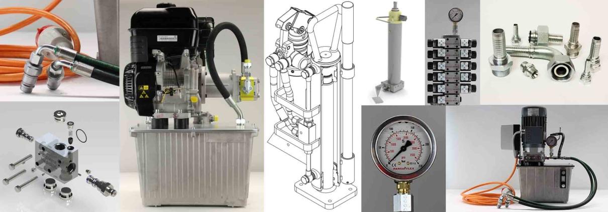 Collage Komplettlösungen Hydrauliksystem