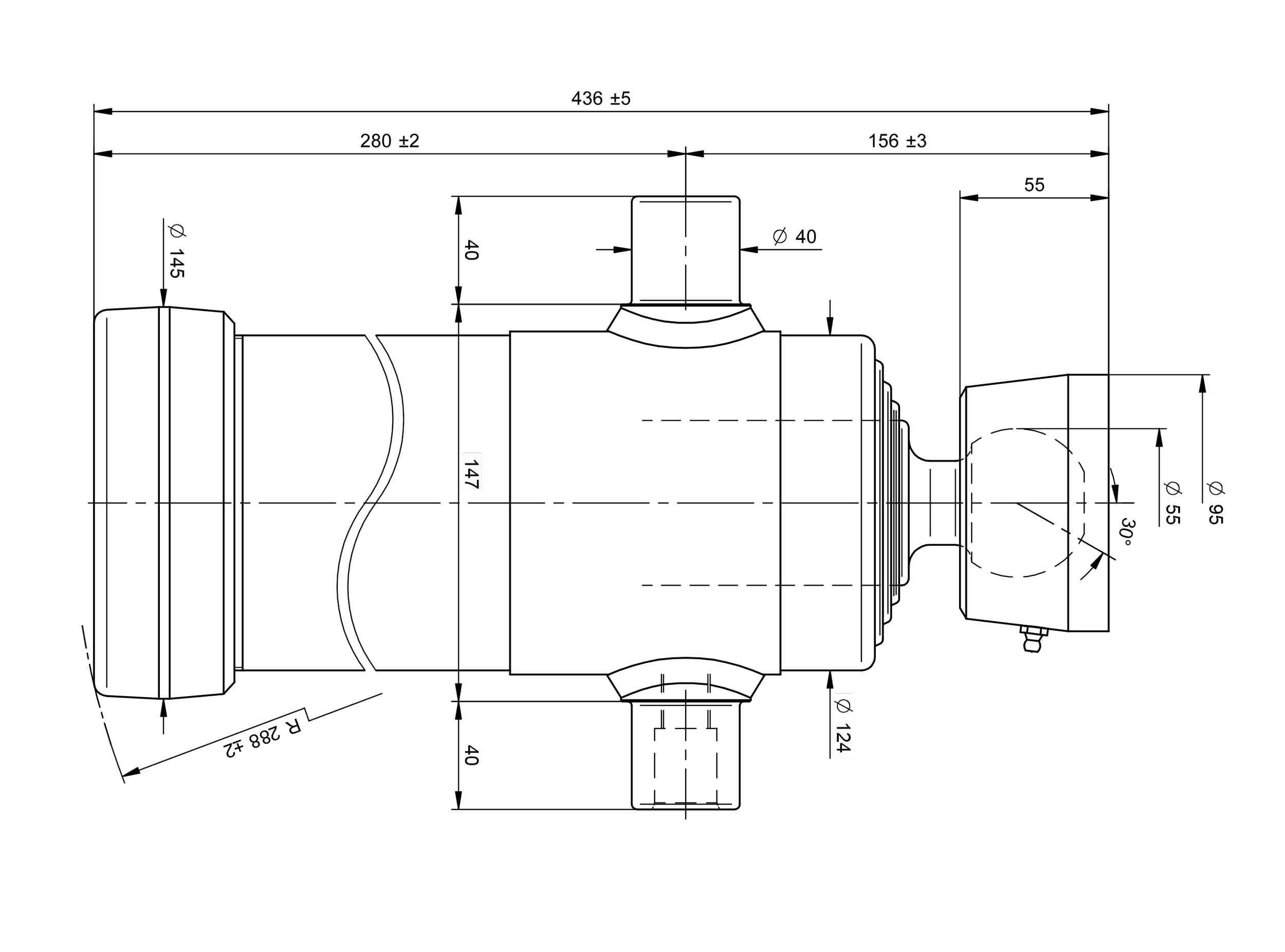 Teleskopzylinder Zeichnung